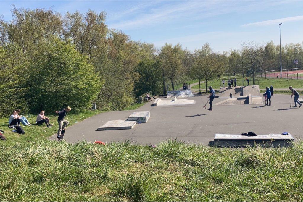 Der Skatepark am Bärenbruch am Freitag (23.4.). Zuletzt war dort ein Polizeieinsatz.