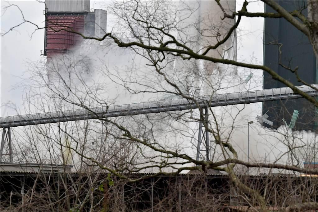 Es war die vierte kleinere Sprengung auf dem Kraftwerksgelände.