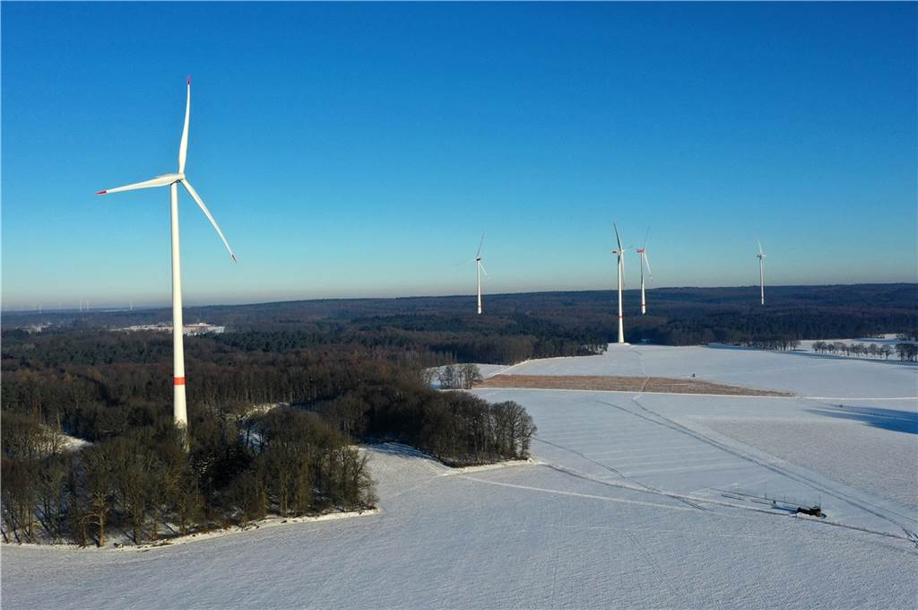 Der Windpark Sythen/Lavesum.