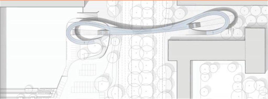Der Entwurf des neuen Brückenbauwerks, das in Dortmund entstehen soll, von oben.