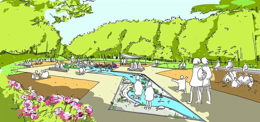Auch der Wasserspielplatz wird komplett umgebaut.