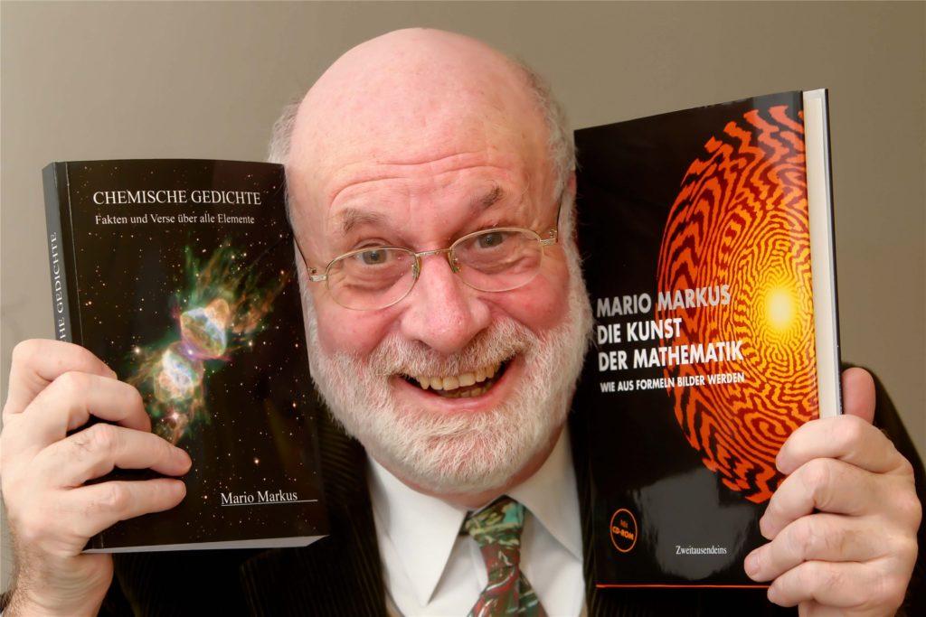 Zu chemischen Elementen schrieb Mario Markus passende Gedichte, aus mathematischen Formeln wurde Kunst.