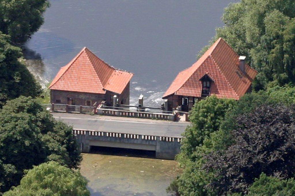 Die Füchtelner Mühle aus der Vogelperspektive.