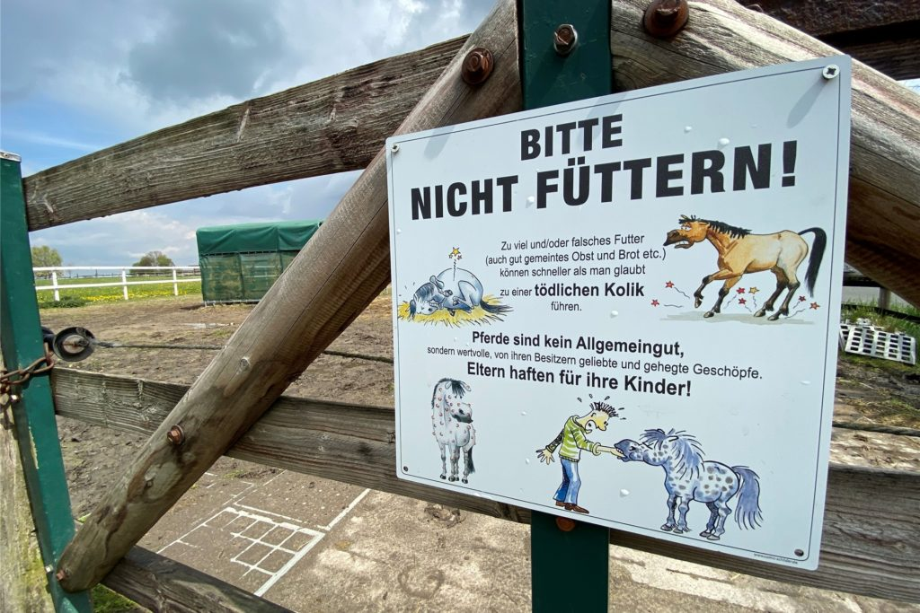 Die Eigentümer der Pferde in der Bauerschaft haben bereits Hinweisschilder an die Zäune gehängt.