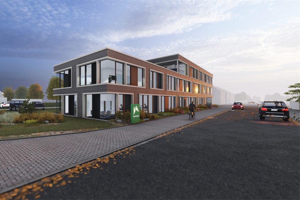 So soll das Büro- und Wohngebäude an der Ottensteiner Straße aussehen.