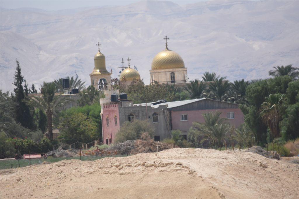Das Kloster St. Gerasimos hat einen wunderschönen Innenhof und befindet sich im Jordantal nahe der jordanischen Grenze.