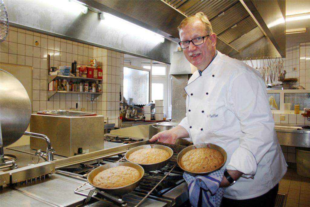 Auch Matthias Pfeiffer würde gern schnellstmöglich die Küche wieder hochfahren.