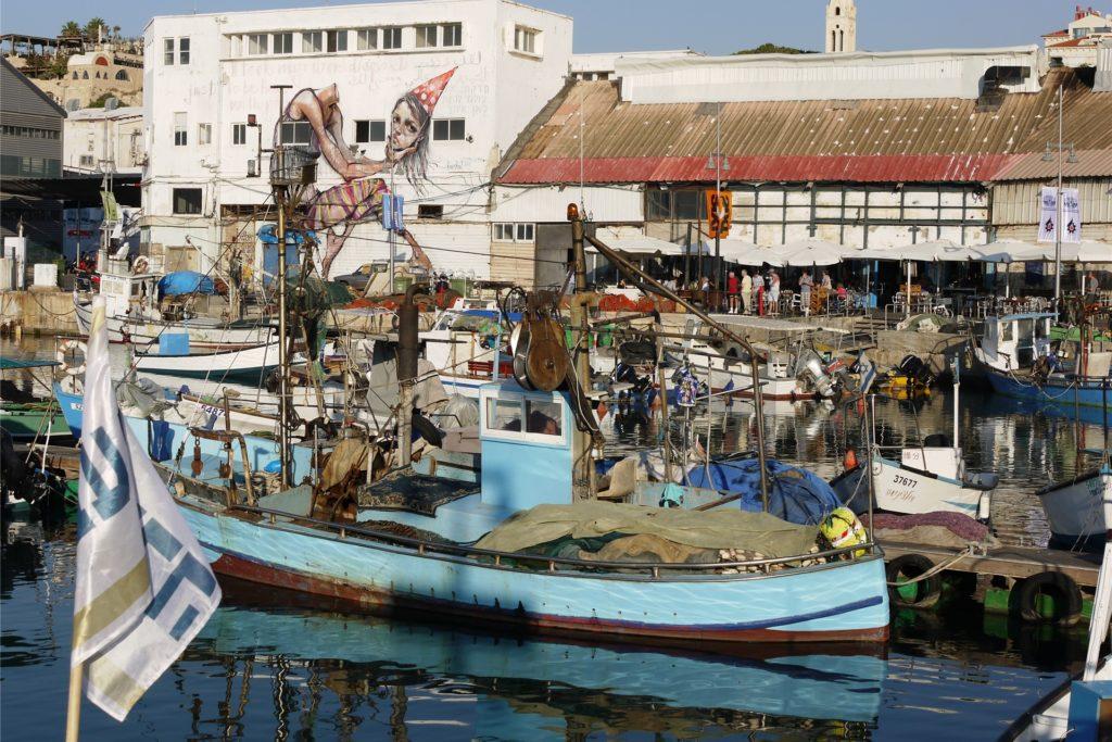 Im Hafen von Tel-Aviv.