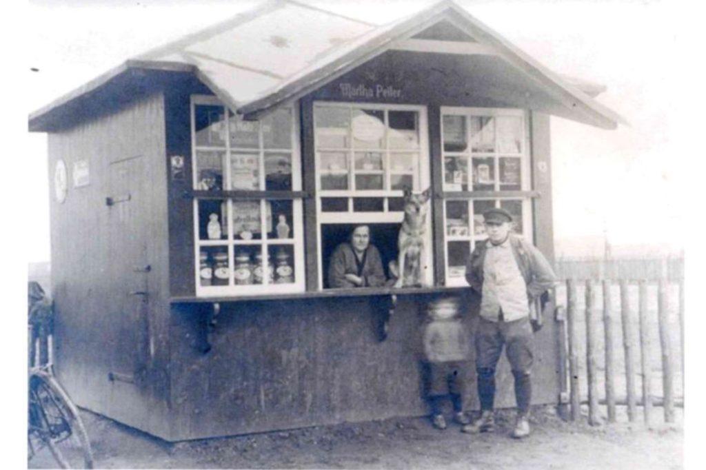 Ein historisches Bild des beliebten Kiosk in Brambauer.