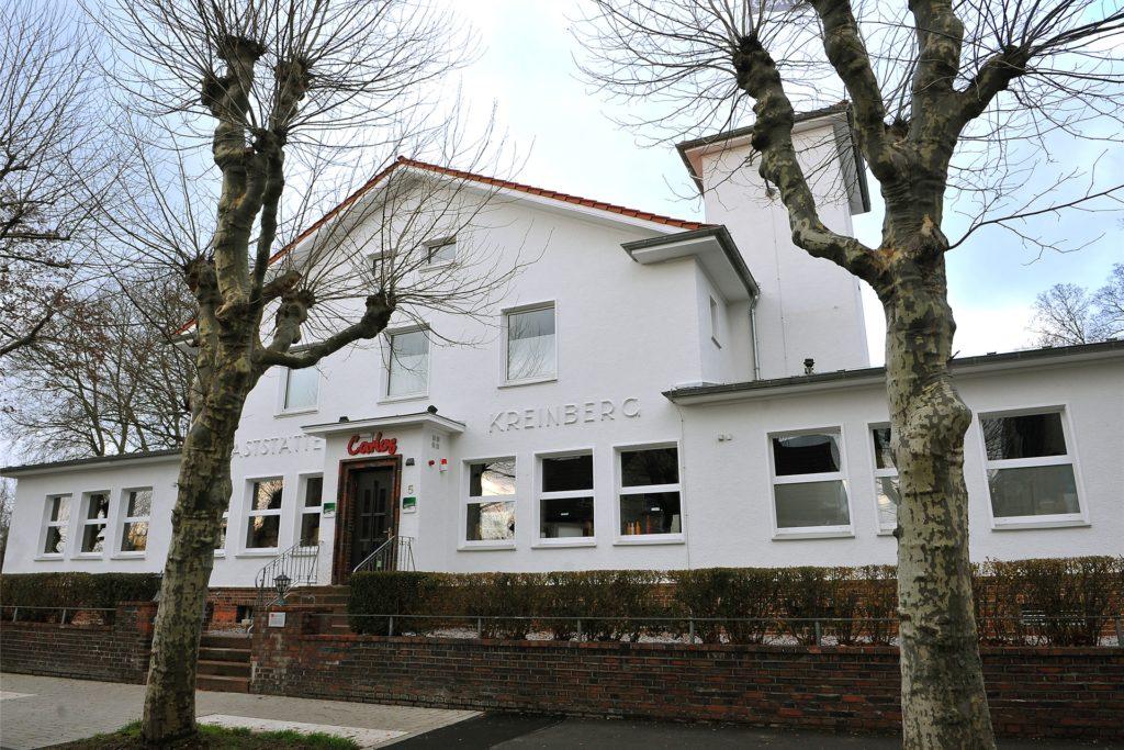 Der Außenbereich am ehemaligen Haus Kreinberg wird zurzeit umgestaltet.