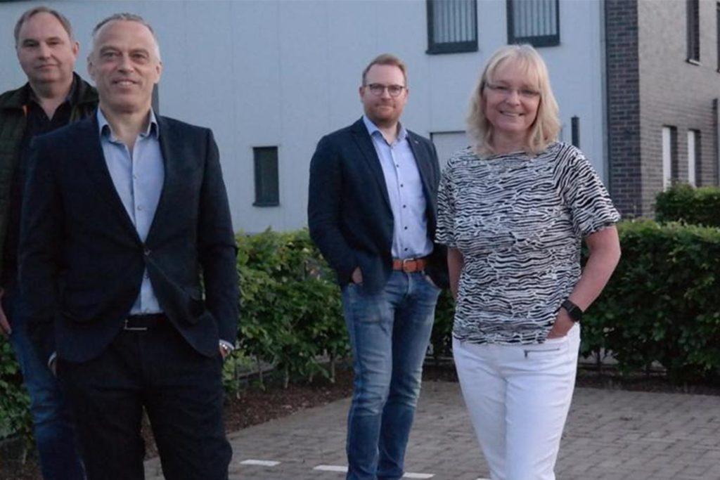 Da war die DB-Welt noch in Ordnung: Im Mai 2020 stellte sich der neue Vorstand der Öffentlichkeit vor. Unter ihnen auch Tobias Neumann (2.v.r) und der Vorsitzende Prof. Dr. Berthold Wigger (2.v.l).