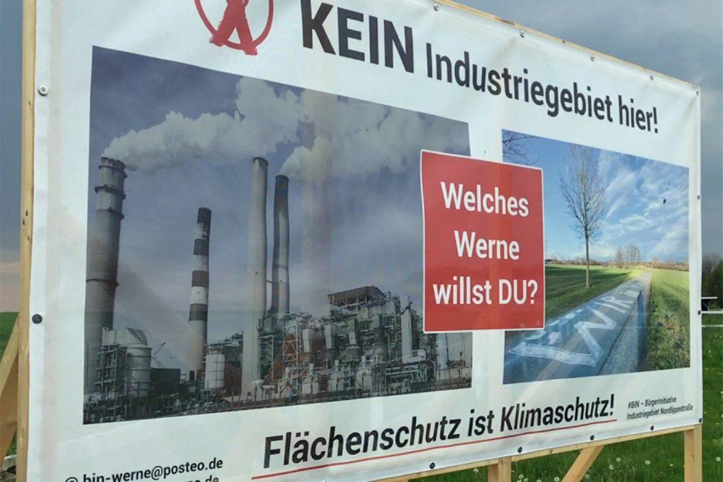 Die Bürgerinitiative BIN kritisiert die Flächenversieglung, die mit einem Industrie- und Gewerbegebiet einhergehen würde.