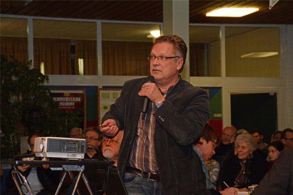 Stadtbaurat Holger Lohse, hier bei einem Themenabend im Marienviertel vor der Pandemie, erläuterte, was sich durch die Neubesetzung der Stellen im Bauordnungsamt für Bürger und Bauherren ändern wird.