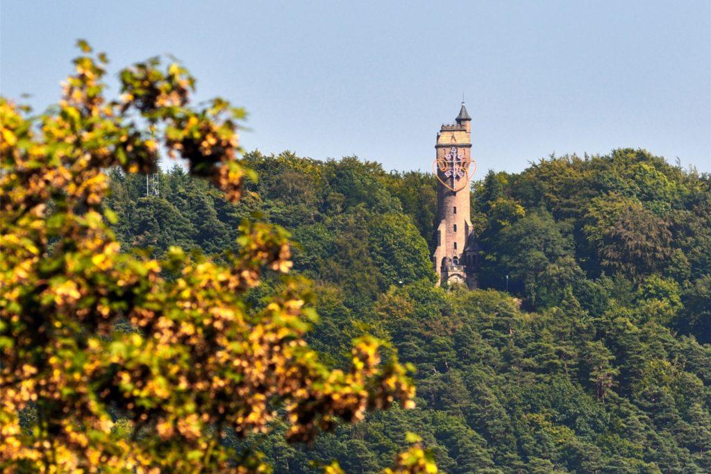 Höchster Punkt Marburgs ist mit rund 400 Metern der Kaiser-Wilhelms-Turm.