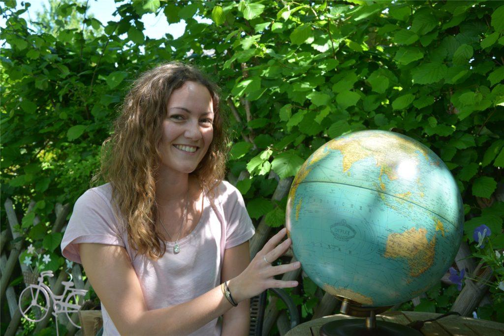 Aus Dortmund-Brackel in die Weiten der Welt: Luisa Hamelbeck und ihr Freund Tobias Nickel wollen bald den Globus bereisen.