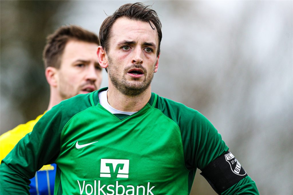 Marvin Böttcher trug bereits stellvertretend die Kapitänsbinde beim SuS Olfen. In der kommenden Saison übernimmt er das Amt in Vollzeit.