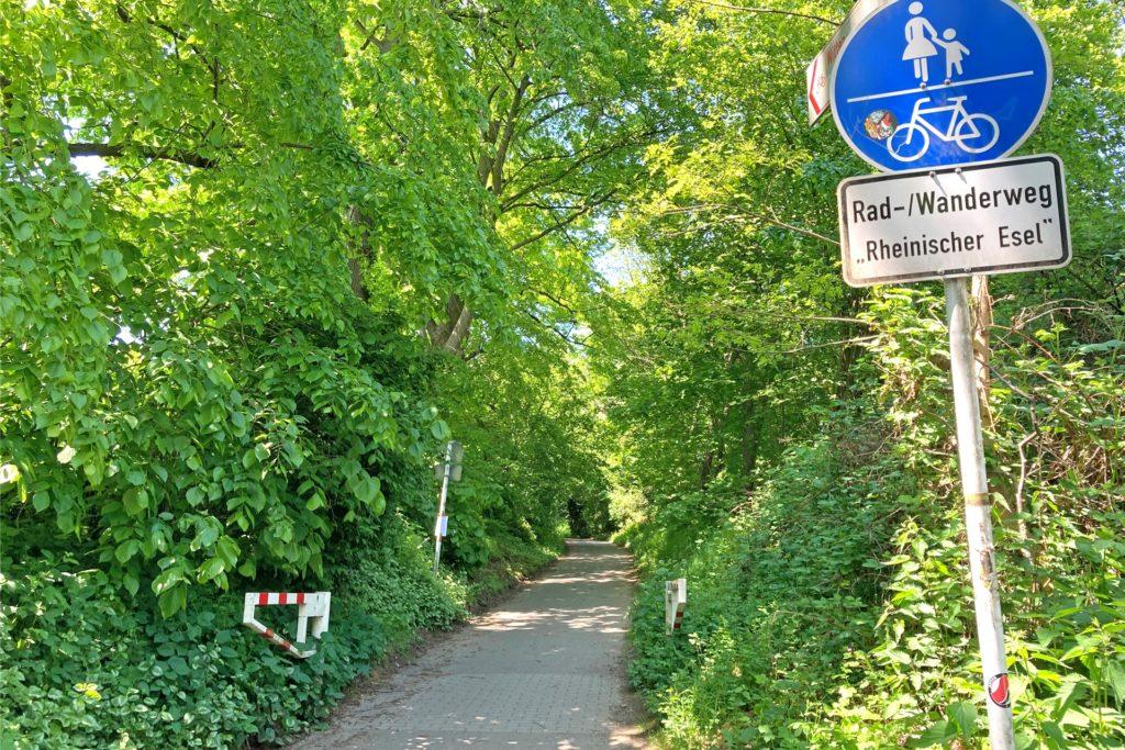 Hier an der Hellerstraße beginnt der Radweg, der bis nach Witten führt.