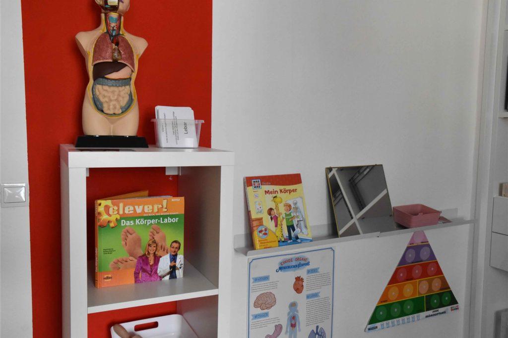 Einblick in die Aktionsräume im Forscherhaus.