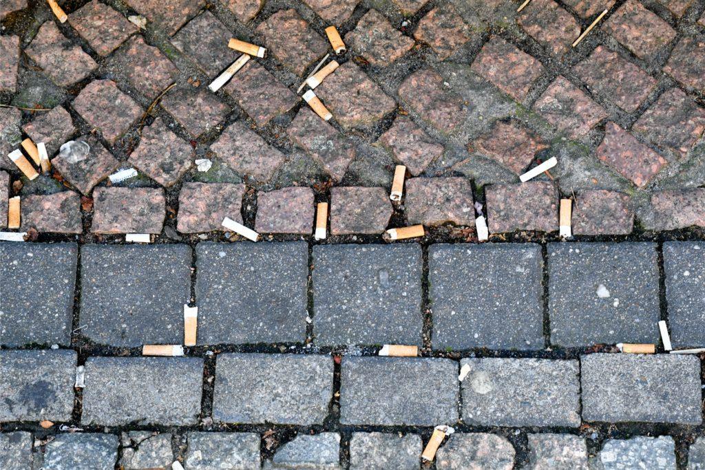 Zumindest in der Tannenstraße liegen seit kurzem nicht mehr so viele Kippen auf der Straße: Hier hängen jetzt zwei Sammelbehälter, die die Wiederverwertung der Stummel möglich machen.