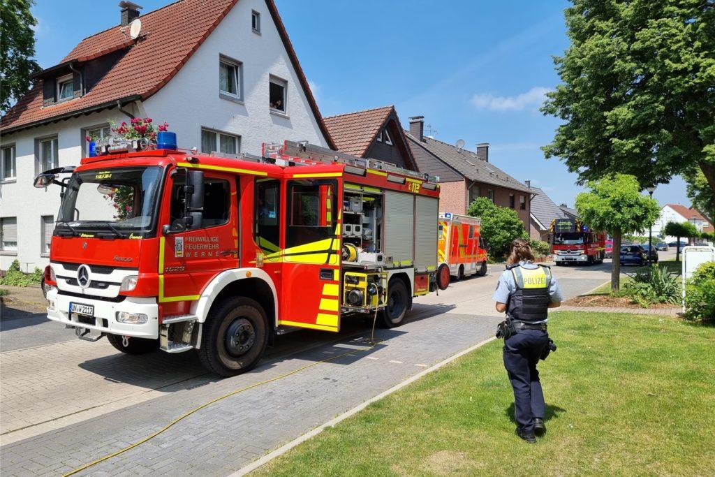 Am Dienstagmittag um 12:20 Uhr wurde die Feuerwehr in die Straße Ostkamp in Werne alarmiert.