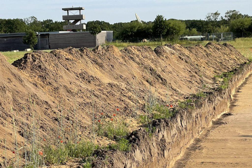 Die neuen Grabungsflächen befinden sich in unmittelbarer Nähe zum Naturbad.