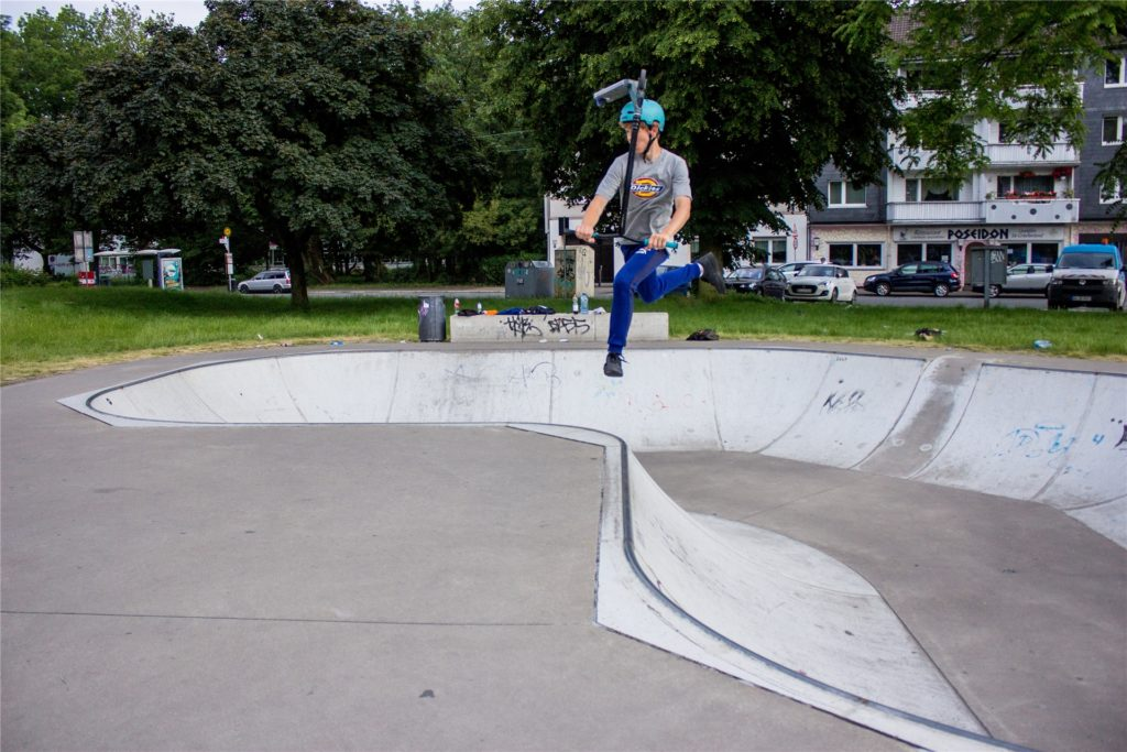 Springen lässt es sich auf dem Skatepark wunderbar.