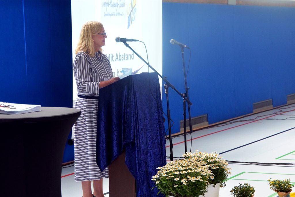 Dagmar Perret hielt die Begrüßungsrede.