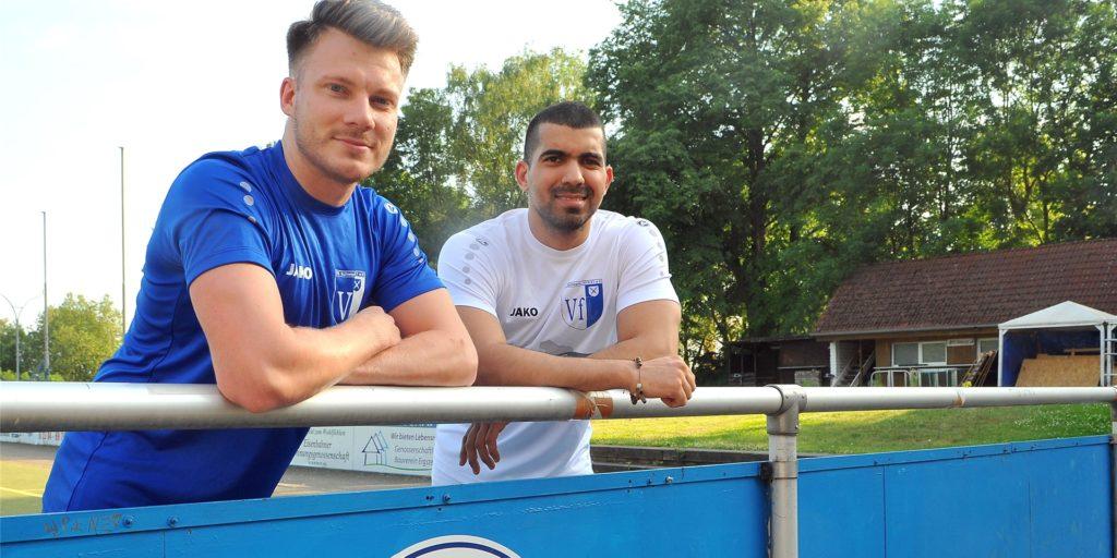 Der eine lebte zuletzt in Mexiko, der andere kommt aus Panama: Lukas Severin (li.) und Mario Alvarado, Neuzugänge des VfL Schwerte.