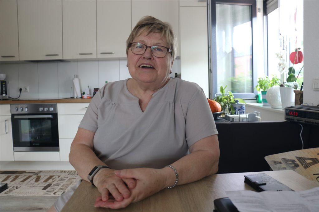 Annegret Gärtner lässt sich von dem schweren Sturz nicht unterkriegen und hatte ihr Lachen schnell wieder.