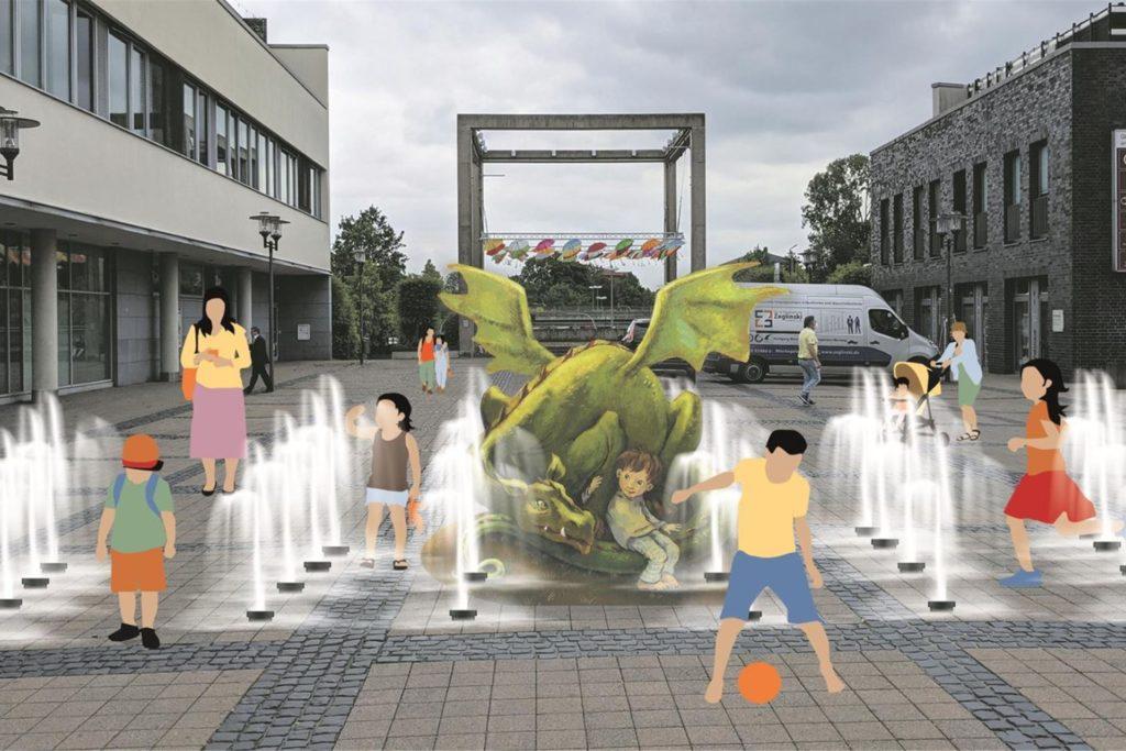 Die SPD schlägt als Alternative zum Tisa-Brunnen eine begehbares Wasserspiel für Kinder mit einer Romanfigur von Cornelia-Funke -und bringt als Standort den