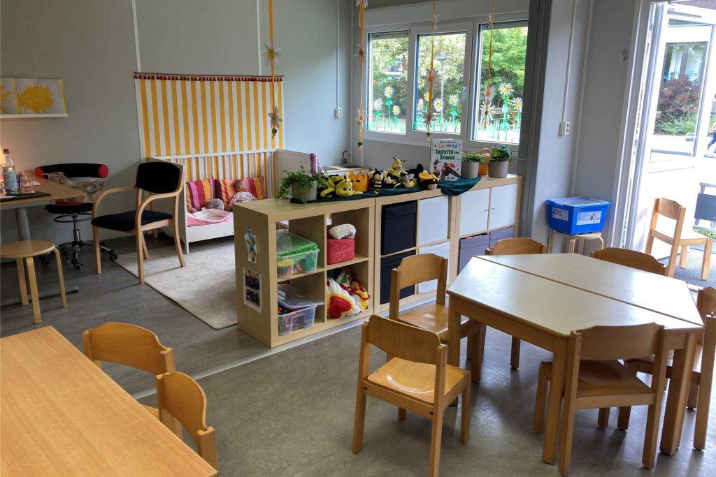 Zwei große Gruppenräume bieten Platz für die Kinder der Kita St. Sophia.