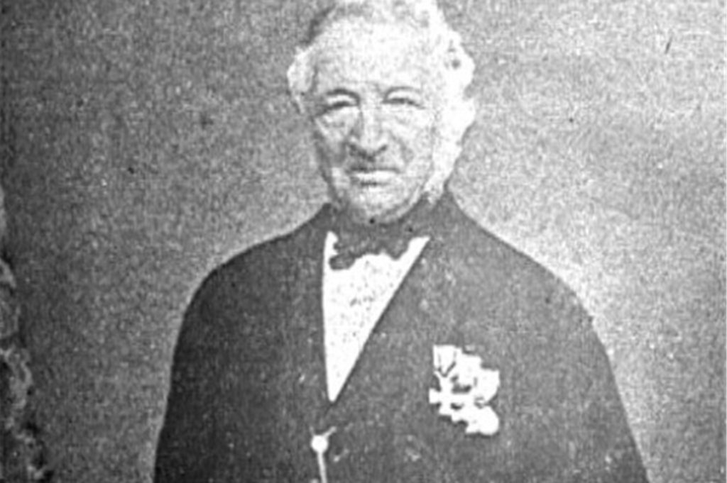 Dr. Wiesmann, Hausarzt des Freiherrn vom Stein. Mit diesem Foto aus dem Archiv des LWL erinnert der Heimatverein Olfen an den in seiner Heimatstadt fast vergessenen Mediziner.