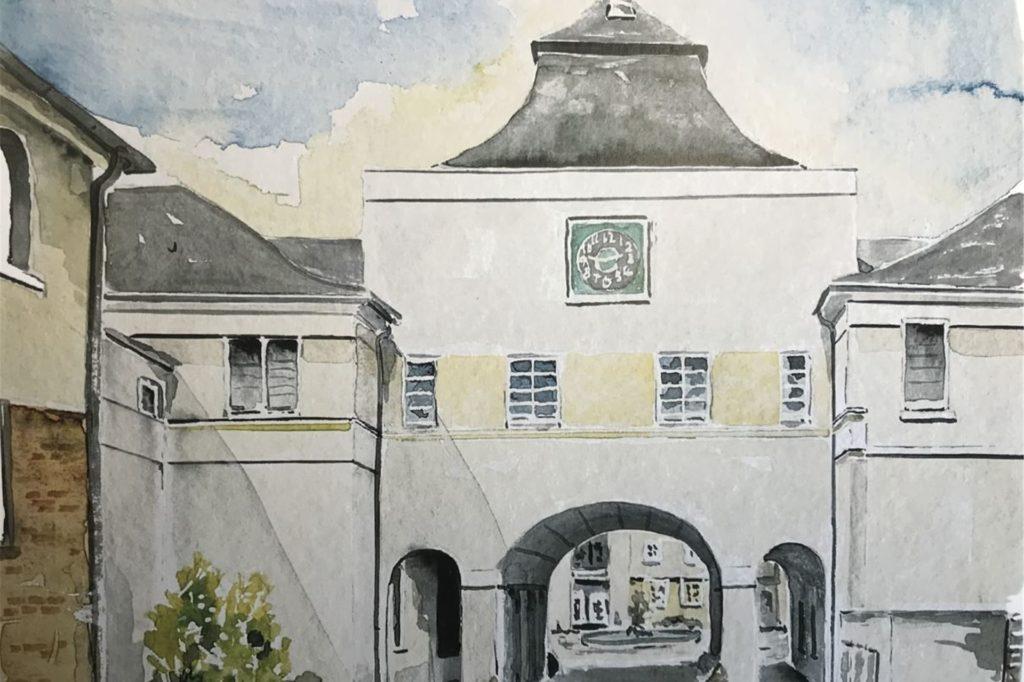 So malte Manfred Vorholt eines Ansicht aus der Zechensiedlung.