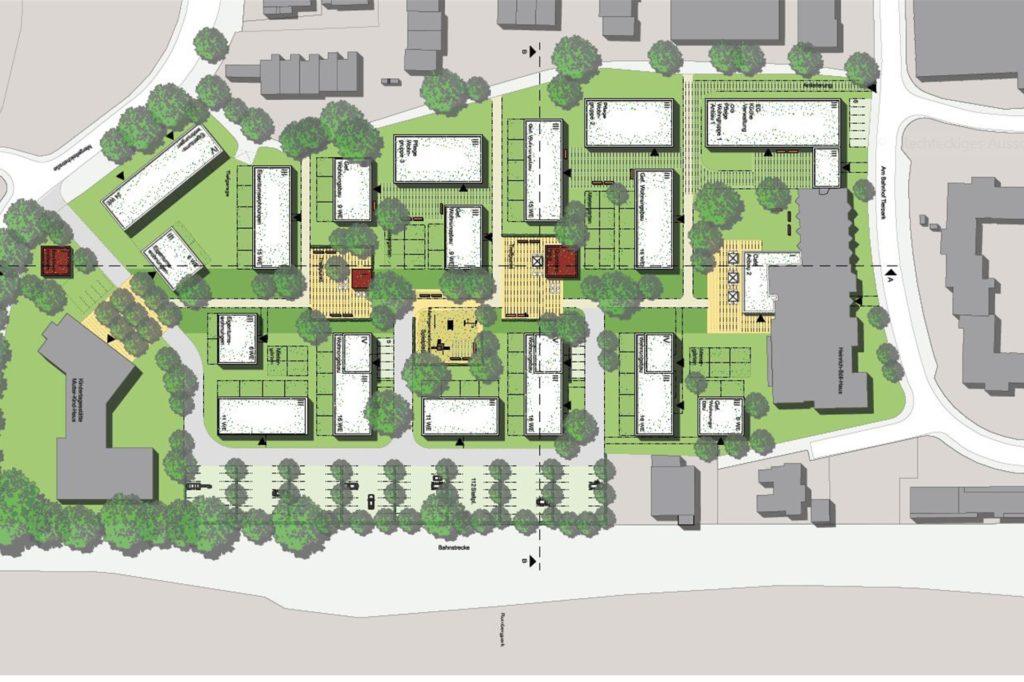 Der Entwurf zum Generationenpark von WoltersPartner, Architekten & Stadtplaner GmbH: Dieser Entwurf hat beim Wettbewerb den ersten Preis gewonnen und ist nun Grundlage für alle aktuellen Planungen.