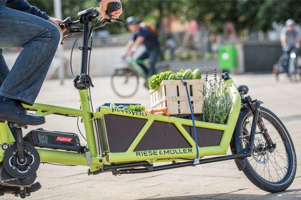 Kreativ gesichert, umweltfreundlich transportiert. Es ist durchaus möglich, das Auto stehen zu lassen.