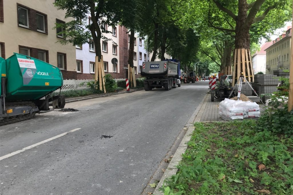Zwischen Neuer Graben und Metzer Straße haben die Arbeiten ebenfalls begonnen.