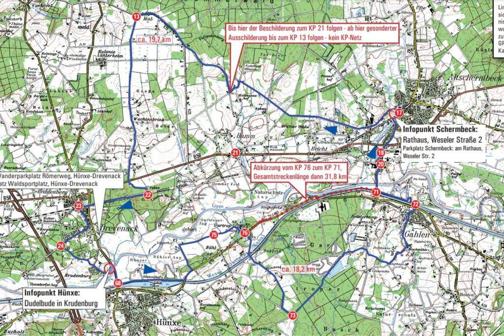 Das ist eine der Strecken, die bei der Niederrheinischen Raderlebniswoche durch Schermbeck gehen.