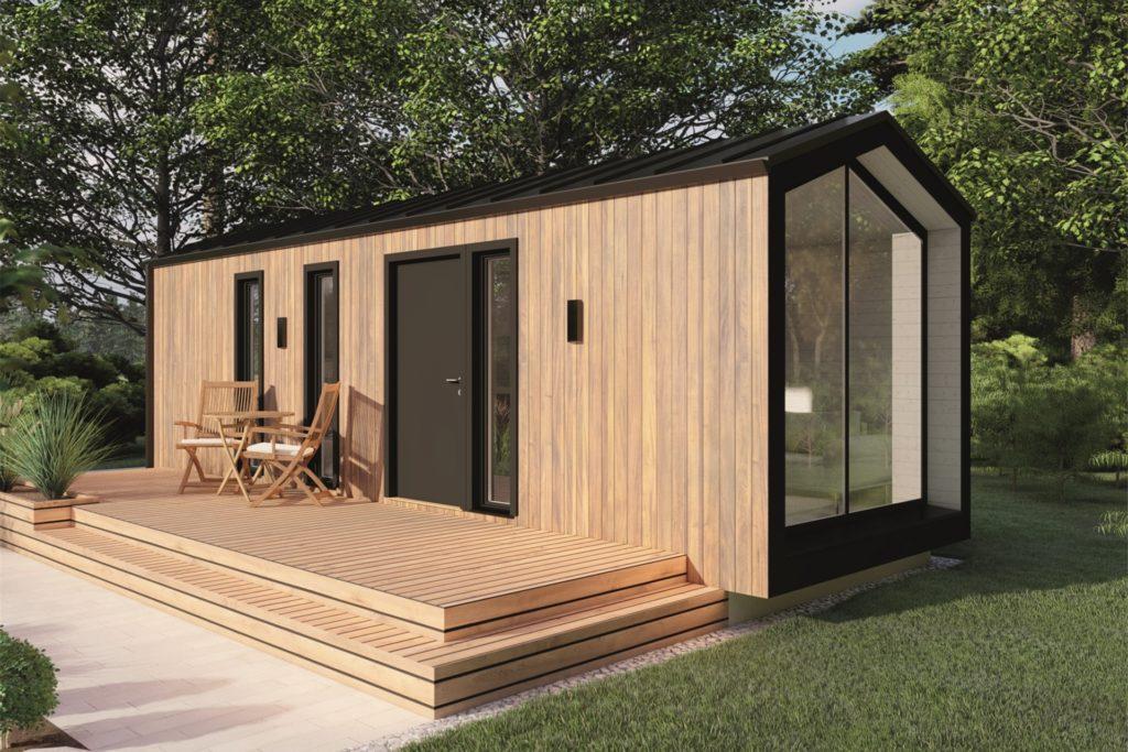 Tiny House aus dem Baumarkt: 27 Quadratmeter Aufstellfläche, schlüsselfertig mit Bad und Küche.