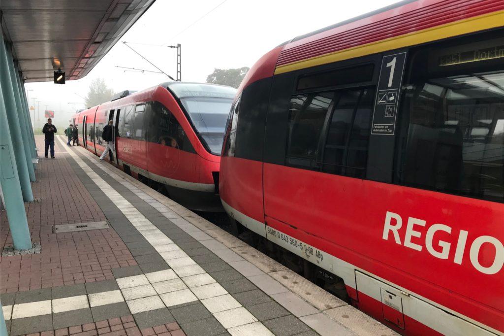Die Westmünsterland-Bahn war zwar vom Streik betroffen, die Strecke zwischen Dortmund und Enschede konnte jedoch noch bedient werden.