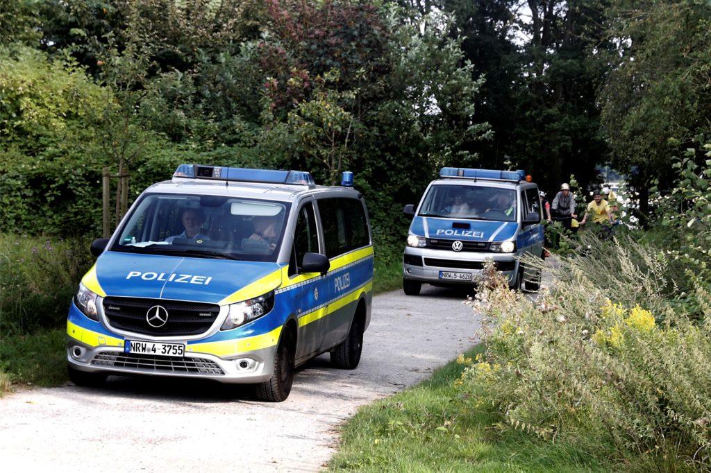 Die Polizei begleitete die Tour auf allen Etappen.