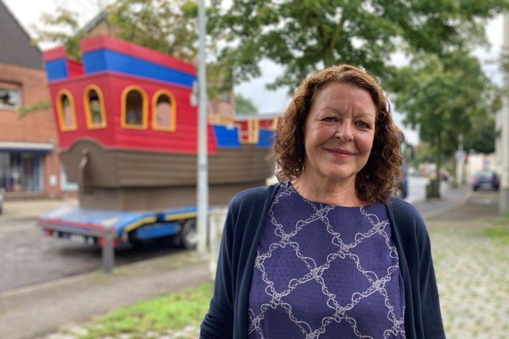 Kindergarten-Leitung Helga Wleklik freut sich darauf, wenn die Kinder auf dem Schiff spielen und toben können.