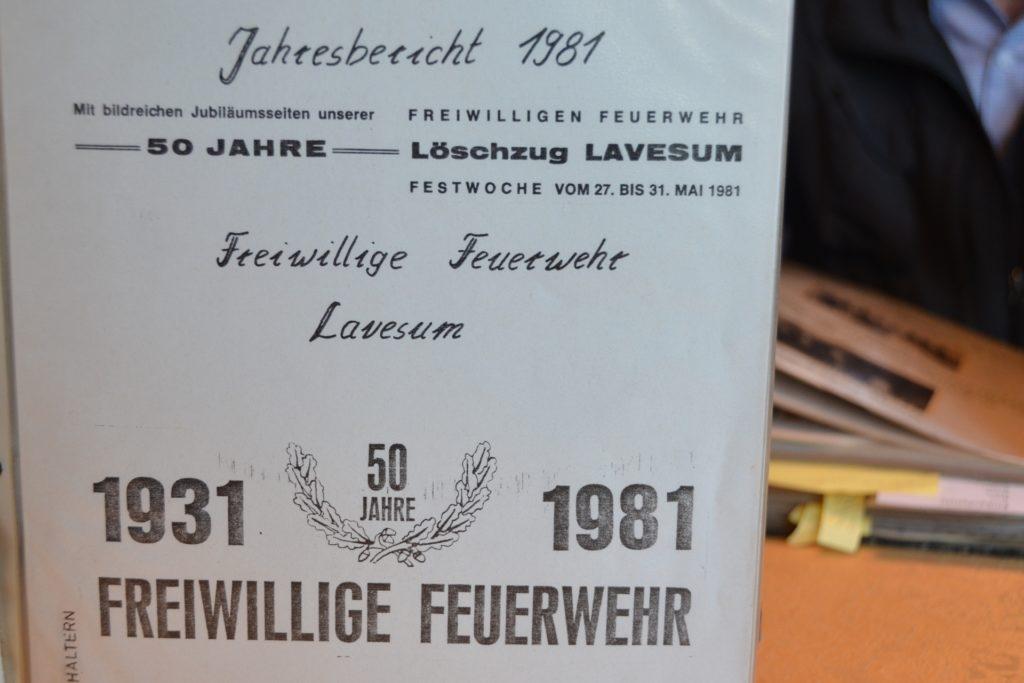 Mit der Festzeitschrift zum 50-jährigen Jubiläum des Löschzuges Lavesum entstand das Archiv 1981.