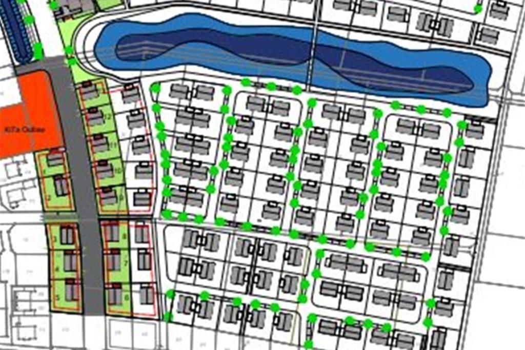 Das Neubaugebiet Sanderskamp ist im Ortsteil Nienborg geplant.