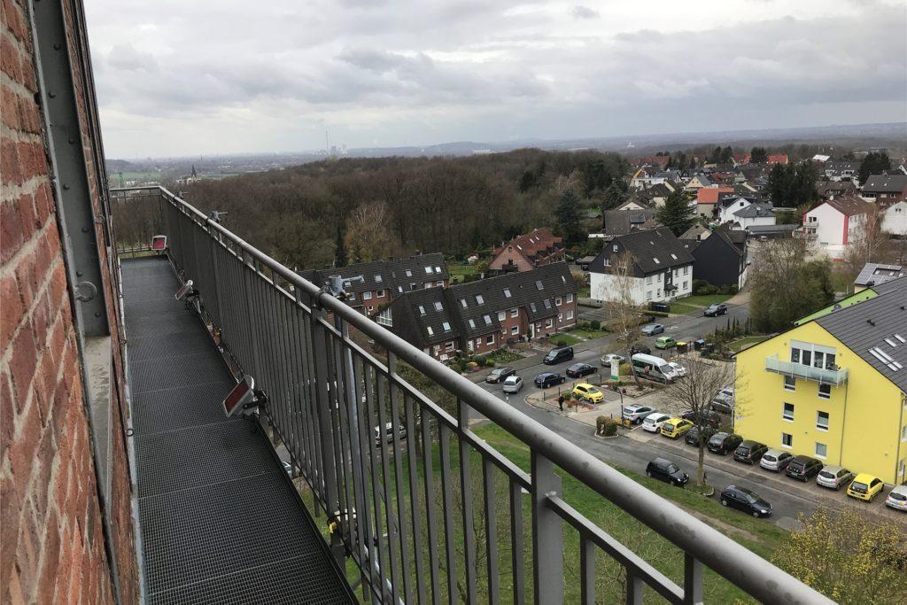 Ganz nach oben auf die Aussichtsplattform des Hammerkopfturms dürfen Besucher am Wochenende steigen.