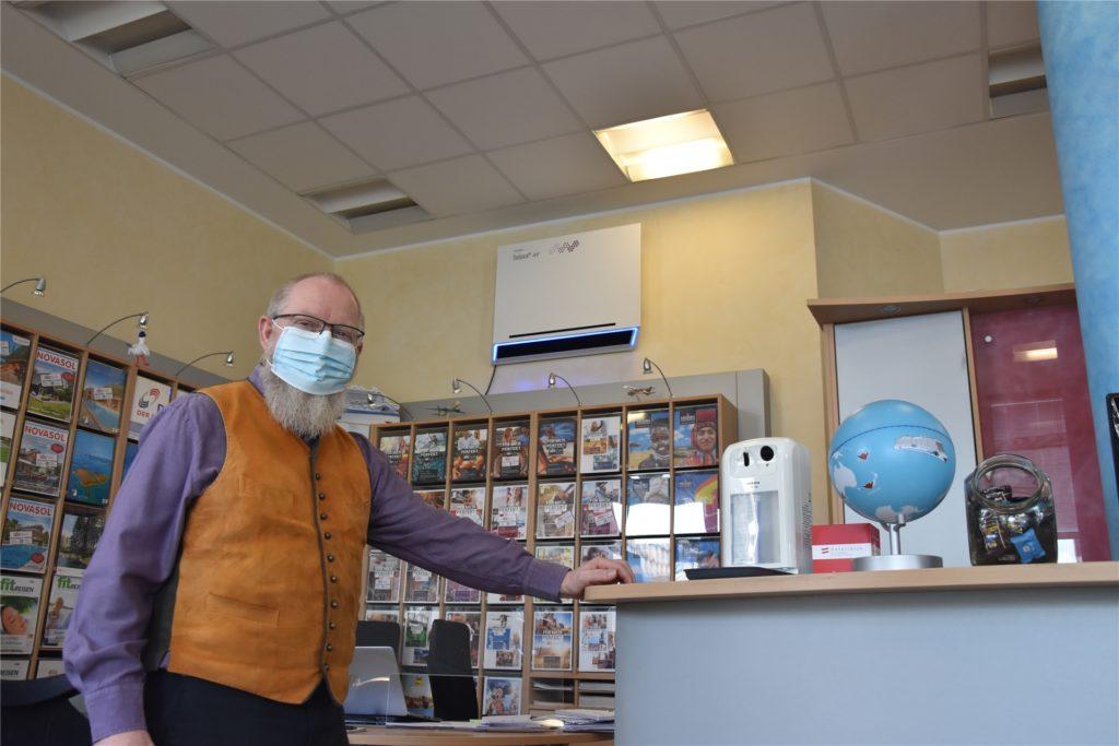 Für Horn ist klar: Die Luftfilter sollen Kunden und Mitarbeitern mehr Sicherheit gegen Infektionen bieten. Die Pandemie war auch für die Reisebranche eine wirtschaftliche Katastrophe.
