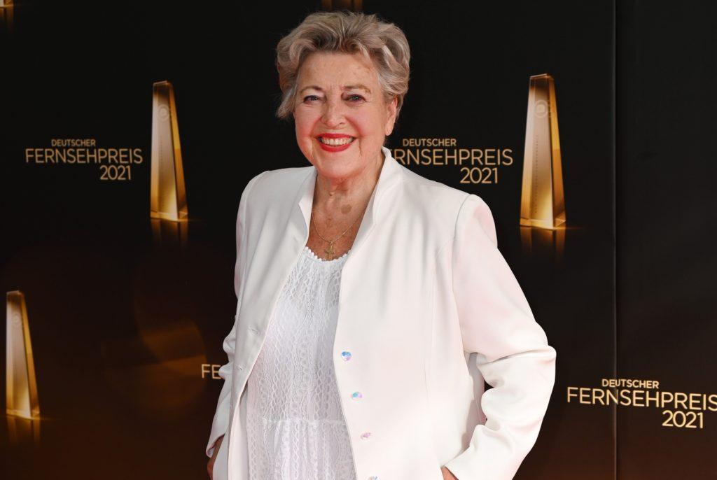 Schauspielerin Marie-Luise Marjan bei der Verleihung des Deutschen Fernsehpreises 2021.