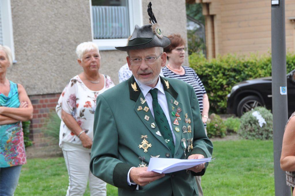 Udo Beckmann, 1. Vorsitzender des ABSV Henrichenburg, will den Jahresrhythmus einhalten.