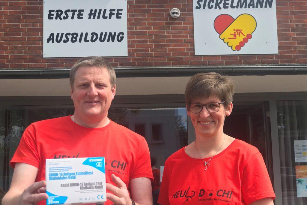 Klaus Sickelmann und Ehefrau Felicitas schließen am Montag ihre beiden Testzentren an der Marler Straße und im Gemeinschaftshaus Wulfen